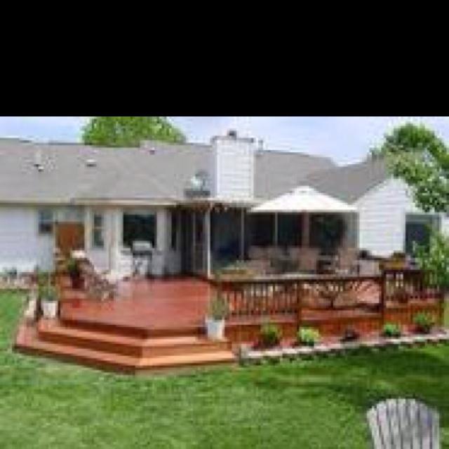 41 best patio images on pinterest   backyard deck designs ... - Patio And Deck Designs
