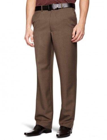 Farah Flexi Waist Trousers Taupe Marl Brown