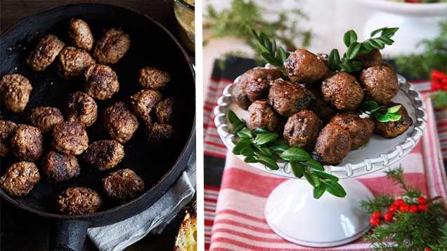 Köttbullar till julen är ett måste. Och godast ska de vara! Här har vi samlat våra fantastiskt goda receptpå julens köttbullar och dessutom smarta tips på hur du sätter smak på köttbullarna!