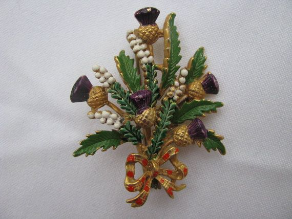 Accessorize with a beautiful vintage thistle brooch. | 24 Ways To Have The Ultimate Burns Night Supper