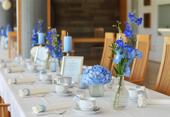 Blue Wedding Table Decorations