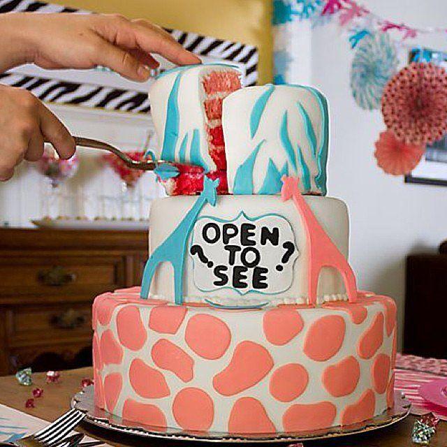 Gender Reveal Party Cakes | Pastel revelador de género. ¿Niño o niña?