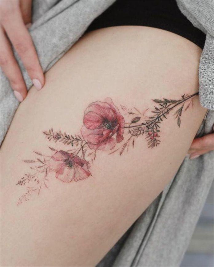 Cute floral tattoos for women 2019, #FlowerTattoos, #RoseFlowerTattoos, –  – #sm…