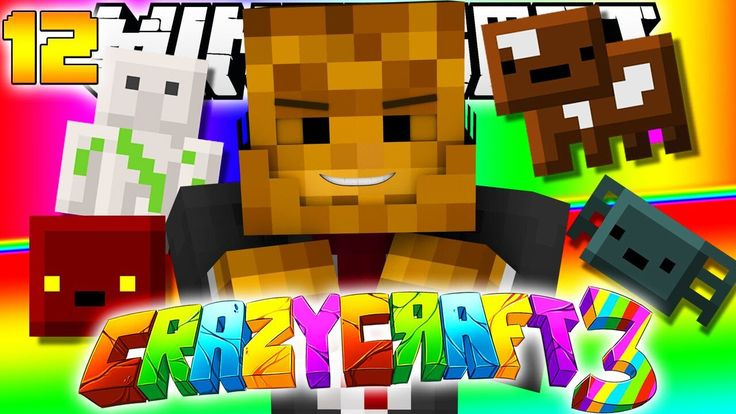 Minecraft CRAZY CRAFT 3.0 - Inventory Pets Mod (Iron Golem, Spider, Magma Cube, Cow, and More) #12 - YouTube