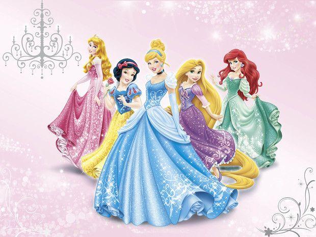 Disney Princess - Pink - Wall Mural & Photo Wallpaper - Photowall
