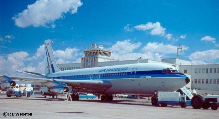 Air Rhodesia Boeing B720 at Salisbury Airport