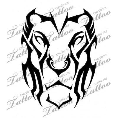 Marketplace Tattoo Lion Tribal #14476   CreateMyTattoo.com