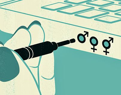 Joey Guidone - Online Sex Education. Social Media, Teens, Gender, Conceptual, Editorial Illustration