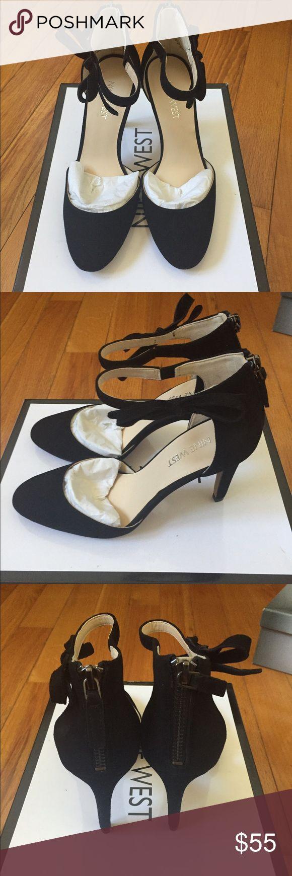"""Nine West Heels NWHOWLEY Black Suede Nine West Heels - Black Suede- New in Box - Heel size 3 1/2 """" Nine West Shoes Heels"""