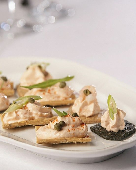 150 best canapes images on pinterest appetizers finger for Canape toppings ideas