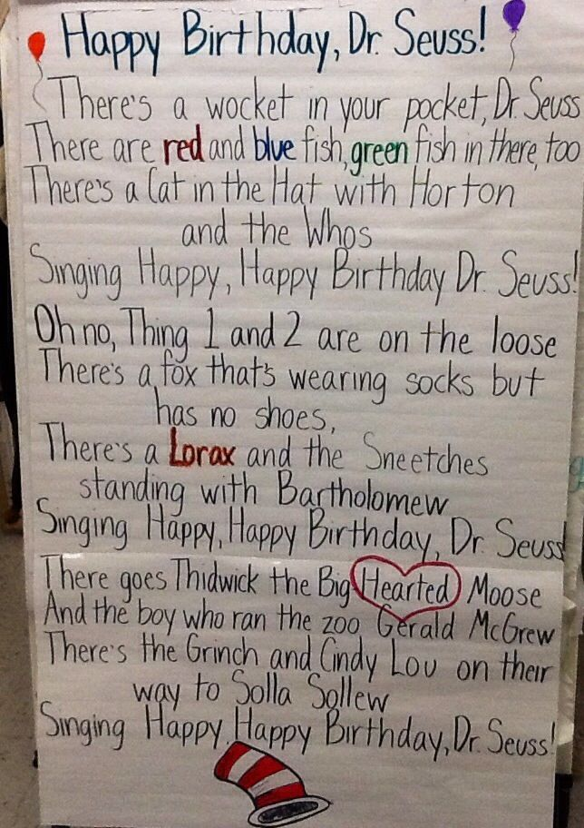 dr seuss songs preschool 13 best images about reading week on 599