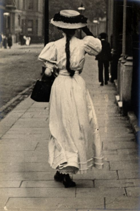 Young woman with braided hair, London, c. 1900-10. Photo by Edward Linley Sambourne.
