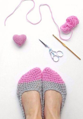 Crochet slippers & a mini heart by Tanya-LTBlogged | Project | Crochet / Decorative | Socks, Leggings, & Slippers | Shoes | Toys | Kollabora