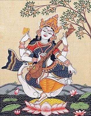 Sitting Saraswati