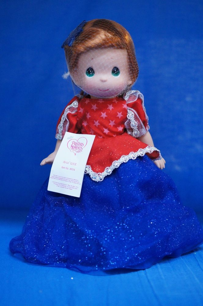 Ariel USA Disney Park July 2013 Precious Moments Doll Little Mermaid Signed 4934 #PreciousMoments #IndependenceDayFourthofJuly2013 #Dolls
