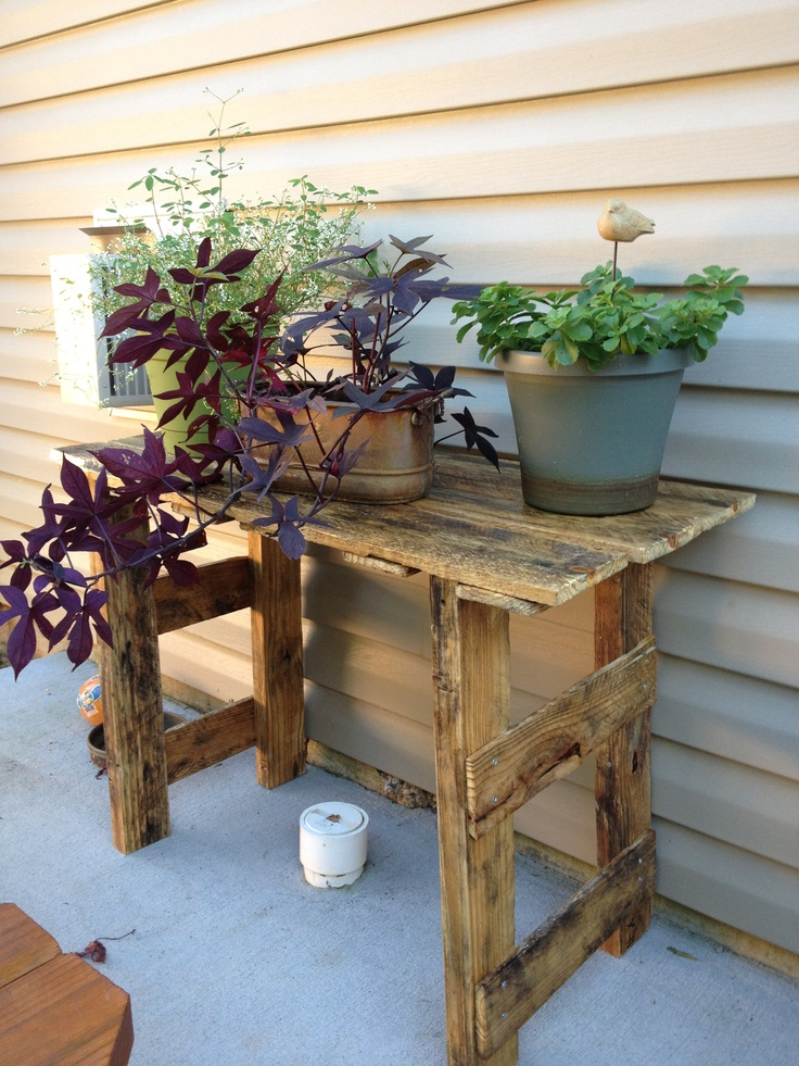 Plant Stand Made From A Pallet My Projects Pinterest Plant Stands Pallets And