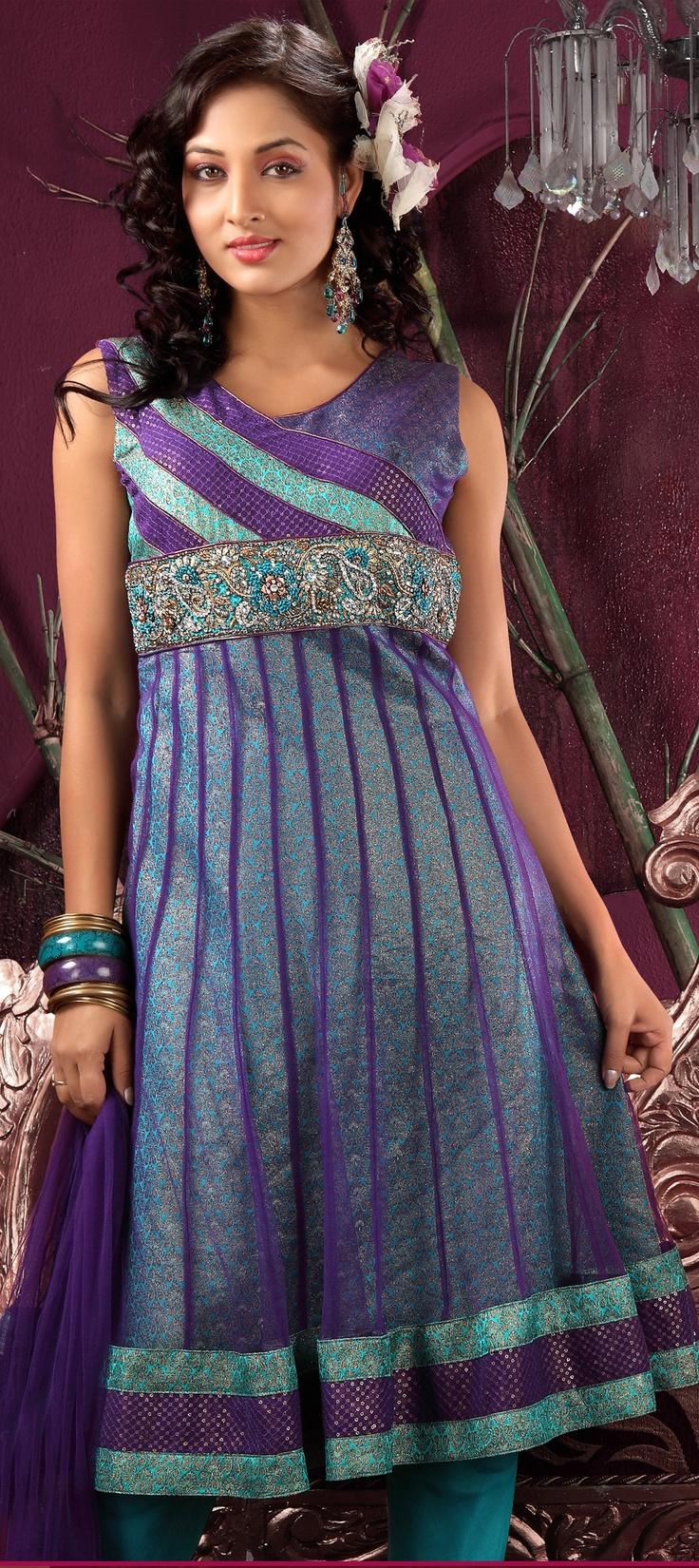 Banarasi, Net, Brocade type fabric in Salwar Kameez Pattern