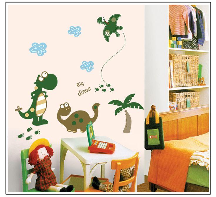 Купить 1 получить 1 выключатель наклейки бесплатный украшения дома adesivo де parede DIY на стены парк юрского периода обои для спальни