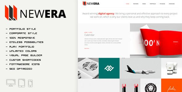 NEWERA - Smart Portfolio and Business Theme agency, blog, business, clean, corporate, creative, modern, one page, photography, portfolio, seo, NEWERA - Smart Portfolio and Business Theme