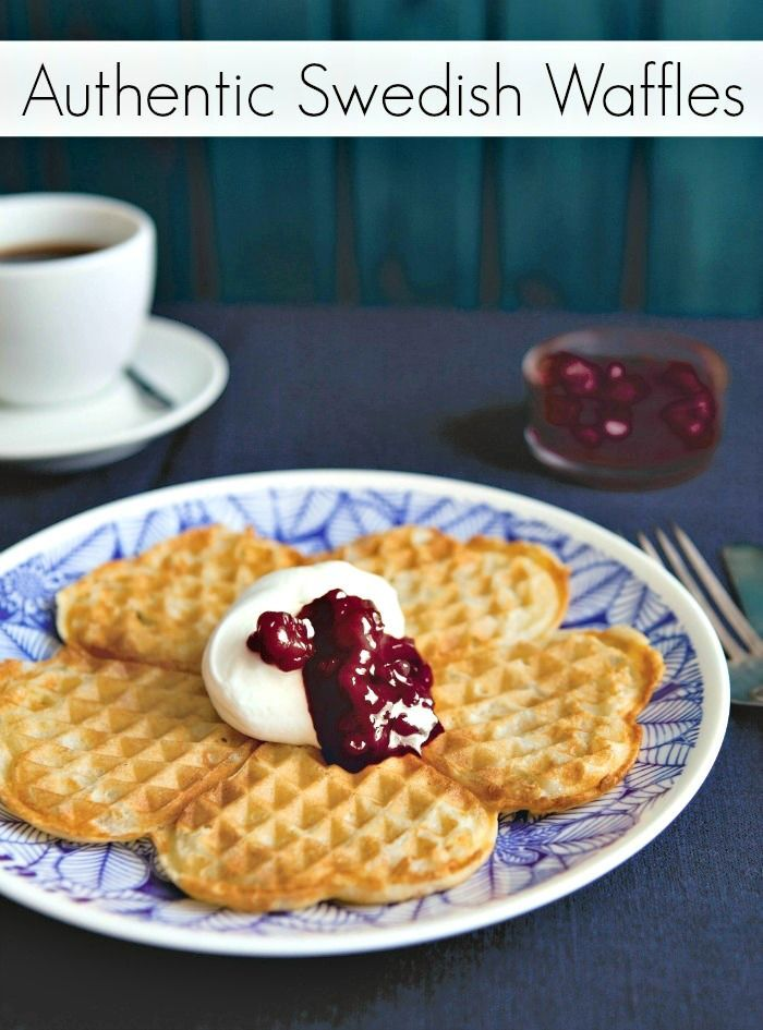 Authentic Swedish Waffles Recipe - A taste of Spring!