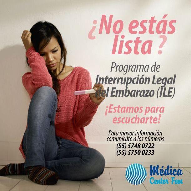 ¿Aún no estás lista para ser mamá? Conoce nuestro programa de interrupcion legal del embarazo aquí: http://www.medicacenterfem.com/interrupcion-legal-del-embarazo.php