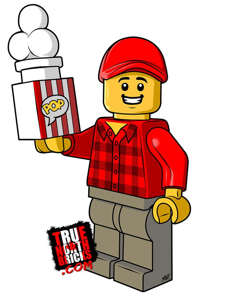 Coloring Page - Popcorn Guy   Lego, Coloring pages, Lego man