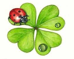 Ladybug Shamrock