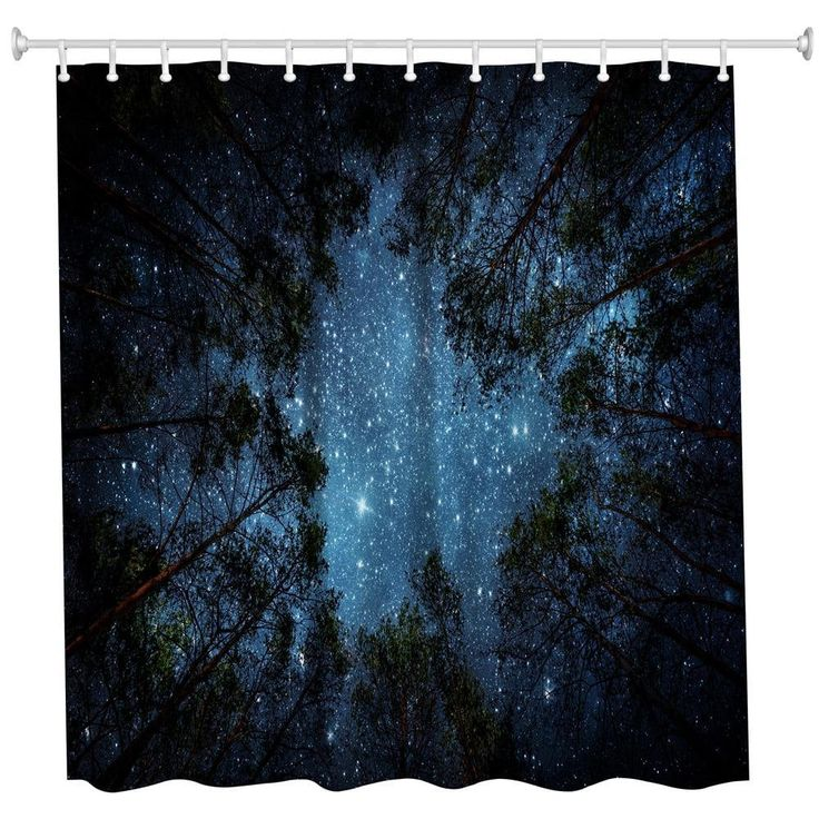 Jungle Sky Polyester Shower Curtain Bathroom High Definition 3D Printing Water-Proof - COLORMIX W71 INCH * L79 INCH