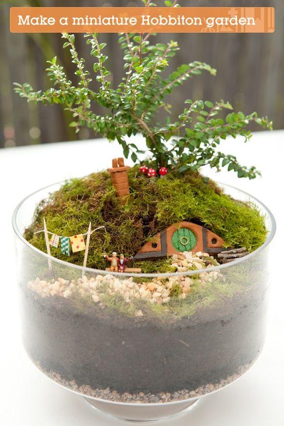 Make Your Own Hobbiton Miniature Garden or a fairy garden