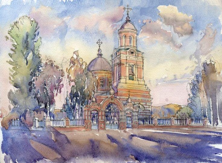 Казанская церковь в Царицыно в г. Казани. Автор: Иван Краснобаев