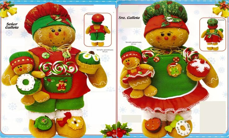 Patrón Pareja Galletas navideñas