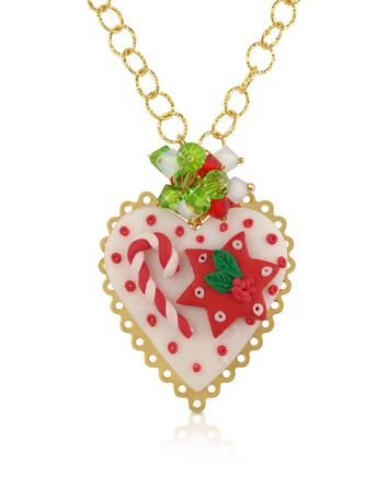 Christmas Heart Necklace
