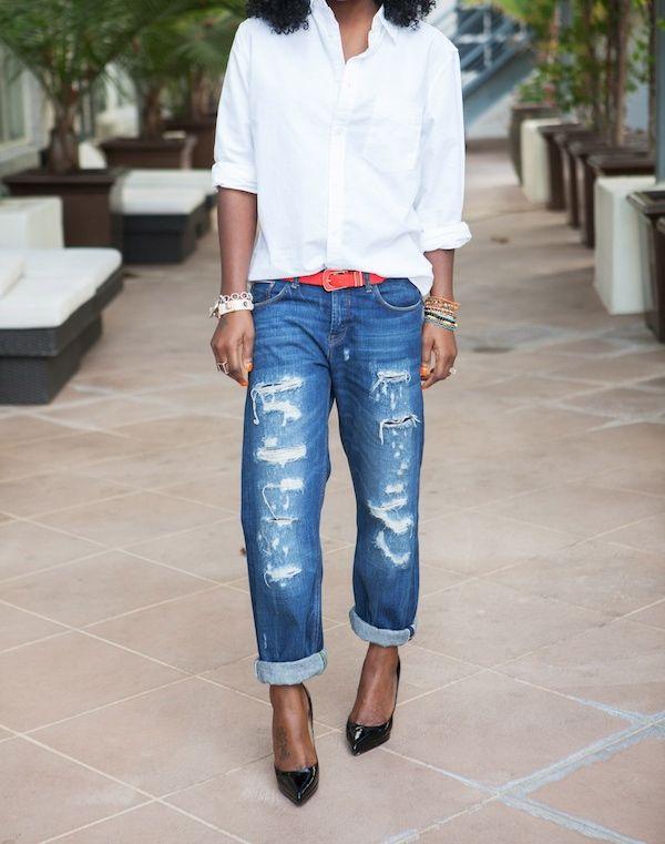 Structured Coat + Boyfriend Shirt + Boyfriend Jeans | Style Pantry