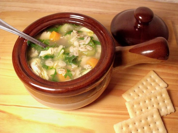 Chicken Barley Soup for #WeekdaySupper
