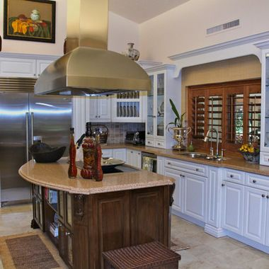 Wooden Kitchen #Shutter Design In Spacious Kitchen.   Sandiego Shutters.com
