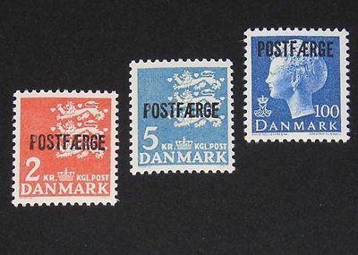 Stamp Pickers Denmark 1972-75 Parcel Post MNH Lot Scott #Q47-Q49