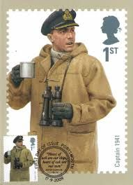 British Stamp 2009 - Royal Navy Military Uniforms Captain 1941