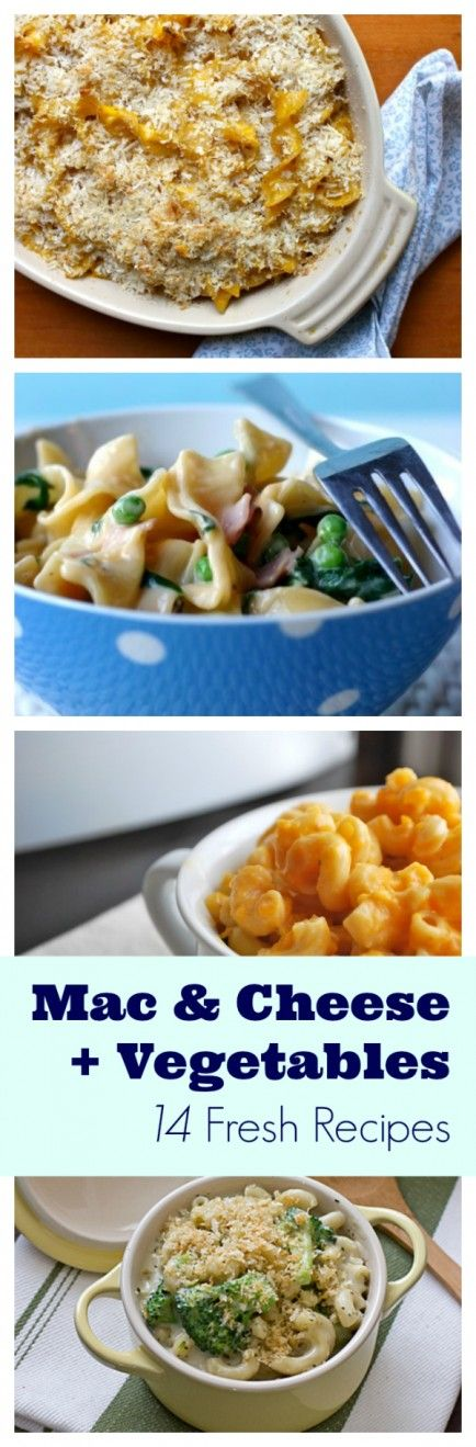 Try these mac & cheese recipes for a delicious spin on the classic entrée – yum! #cheese #recipes