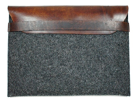 awesome wool & leather iPad cover