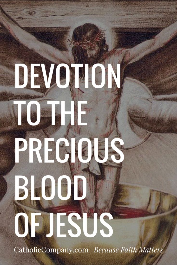 July: Month of Devotion to the Precious Blood of Jesus ...
