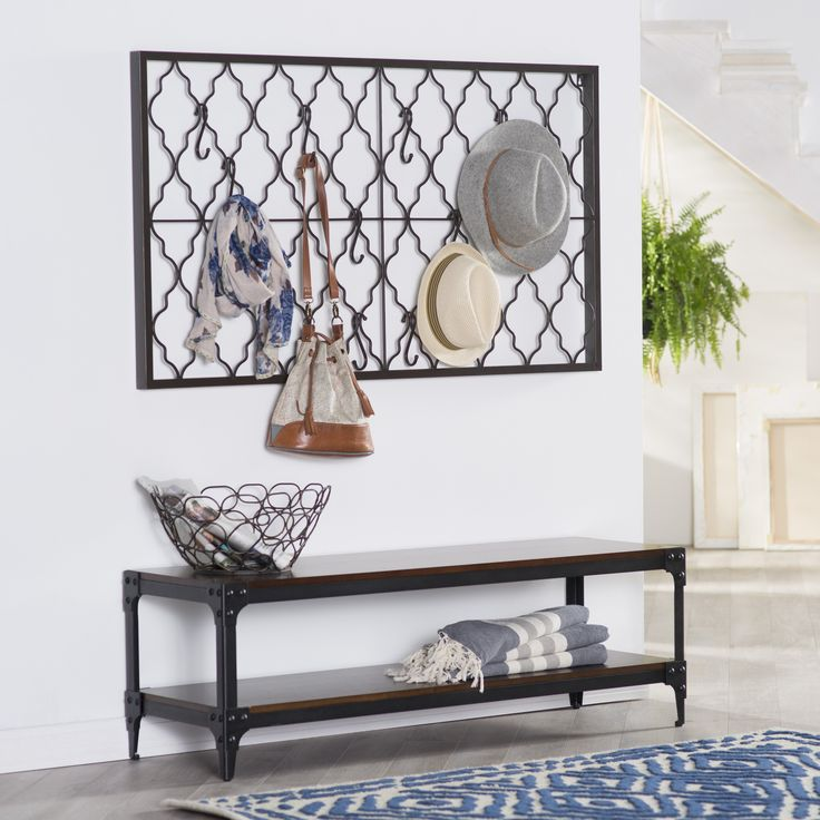 Belham Living Trenton Indoor Bench with Storage Shelf - You've put in a lot of work appointing your home with a clean-lined yet inviting style, so why don't you relax on the Belham Living Tren...