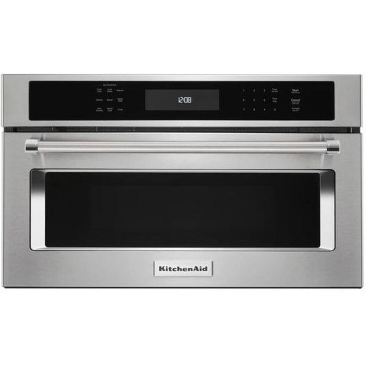 Kmbp100ess by kitchenaid builtin microwaves goedekers