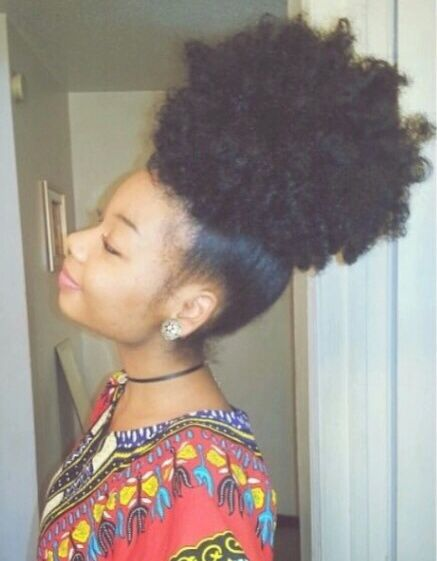 HUGE natural hair puff