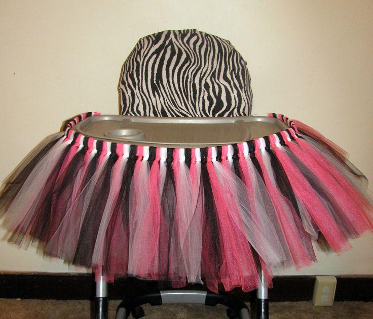 High Chair Tutu Highchair Tutu Skirt Zebra Birthday