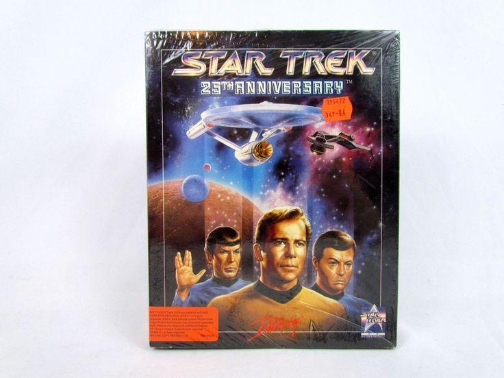 "NEW Star Trek 25th Anniversary PC Game IBM Tandy 1992 Big Box 3.5"" Disk MSDOS"