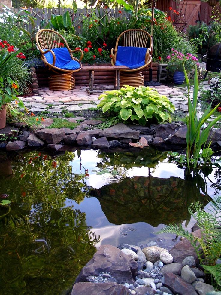 81 best My Backyard - Waterfalls, Ponds & Ideas images on ... on Pond Ideas Backyard id=96879