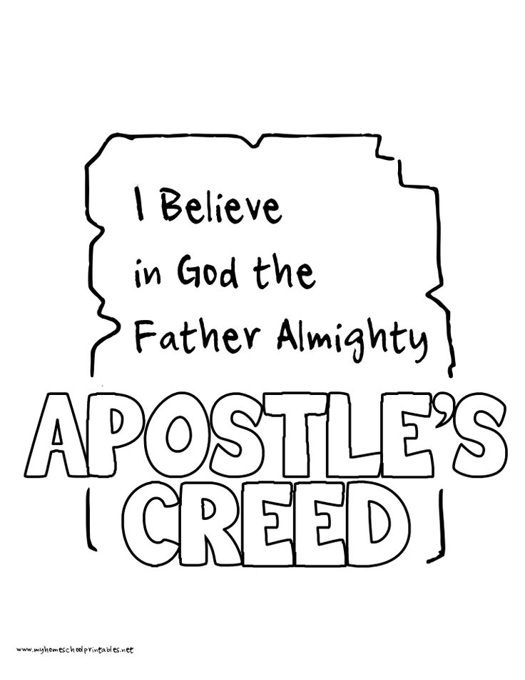 15 best Kids' Apostles Creed images on Pinterest
