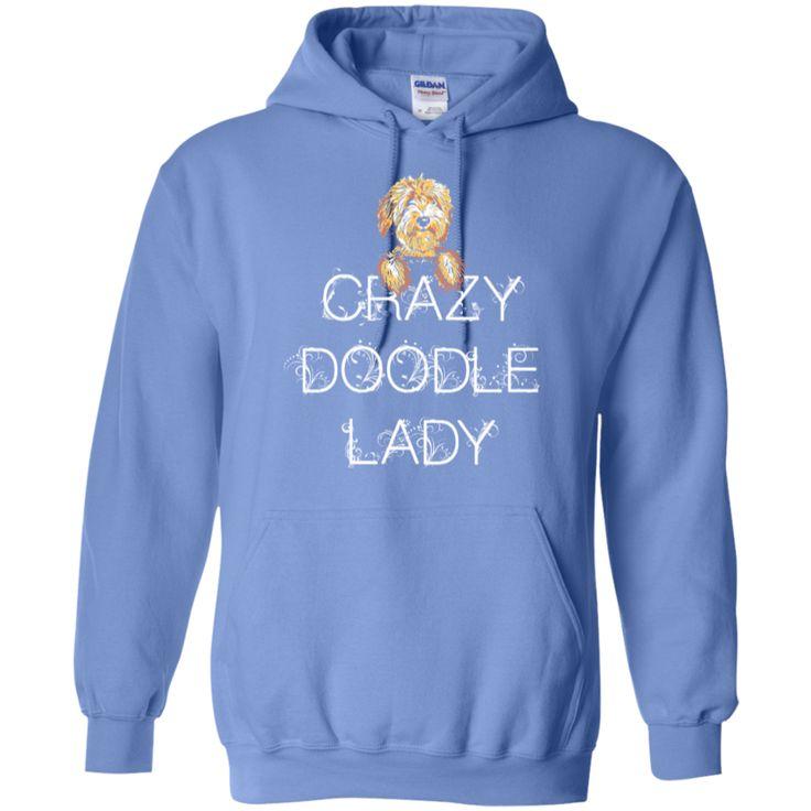 Crazy Doodle Lady - Gildan Hoodie