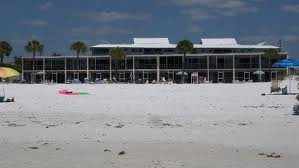 Beach side view of Crescent Towers in Siesta Key