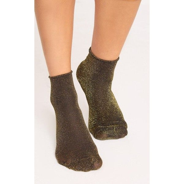 Gold 3 Pack Of Glitter Socks ($13) ❤ liked on Polyvore featuring intimates, hosiery, socks, yellow, yellow socks, gold socks, gold glitter socks, glitter socks and glitter hosiery